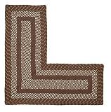 Better Trends / Pan Overseas Newport Braided Rug, 20' x 48' x 48' L-Shape, Brown
