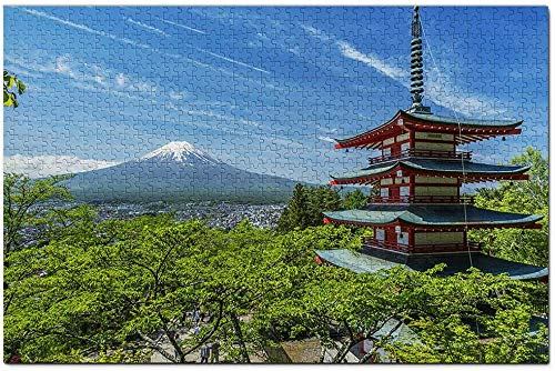 Mount Fuji Chureito Pagoda Japan Jigsaw Puzzle 1000 Piece Travel Souvenir Wooden