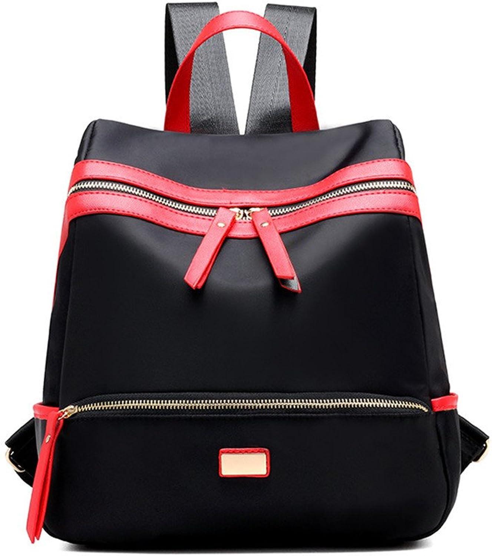 Ms. shoulders stylish package waterproof nylon backpacks preppy students' schoolbags Vogue girl Backpack Case,A