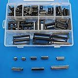 Raogoodcx 110個 2.54mm ピッチDIP ICソケットタイプアダプターセット6,8,14,16,18,24,28,40 Pin