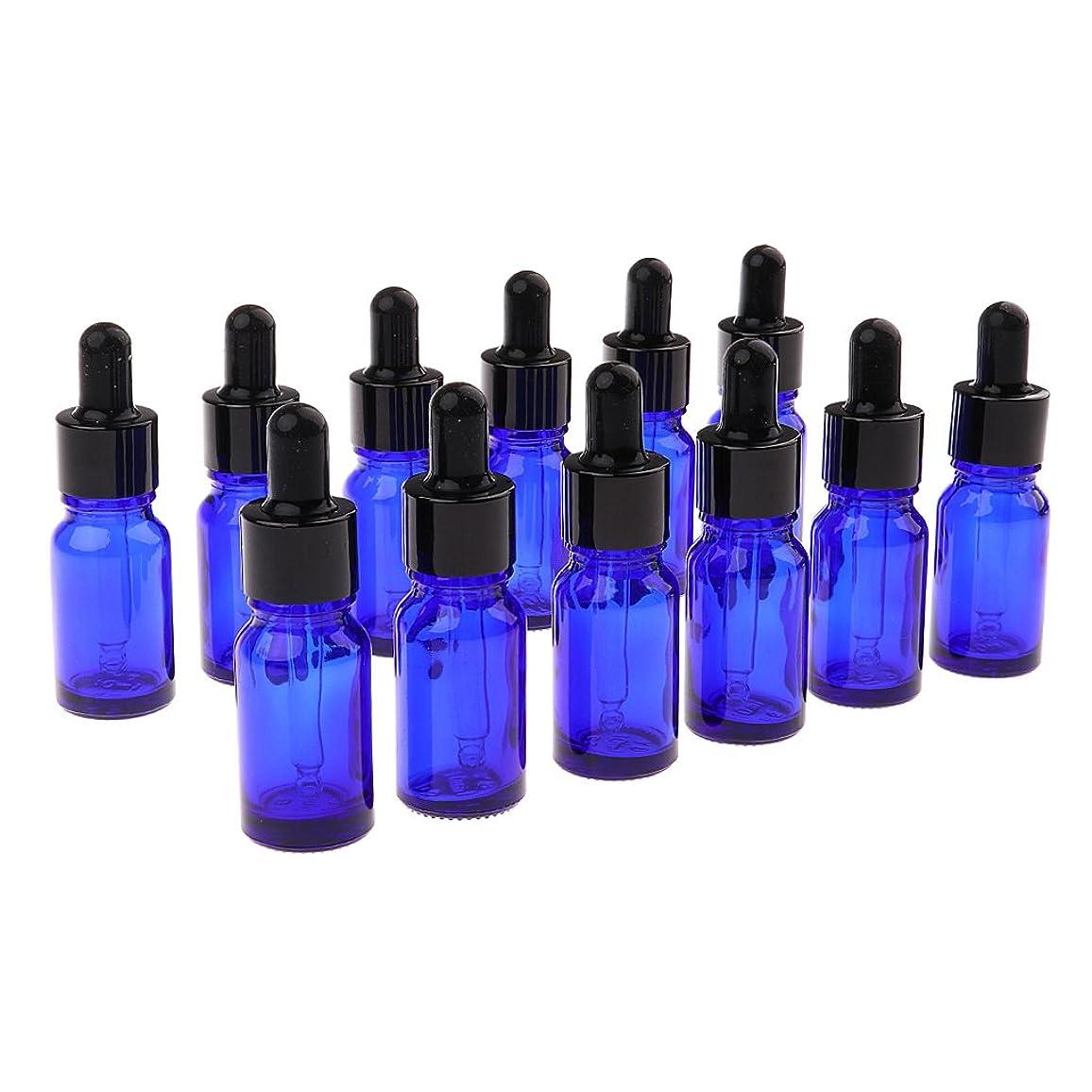 第居眠りする閉じるKesoto 約12個 空ボトル オイルボトル 精油ボトル ガラス 液体 アロマテラピードロッパー 3サイズ選べる - 10ML