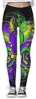 Base Layer Mardi Gras Compression Pants/Yoga Pants Panel Leggings Women