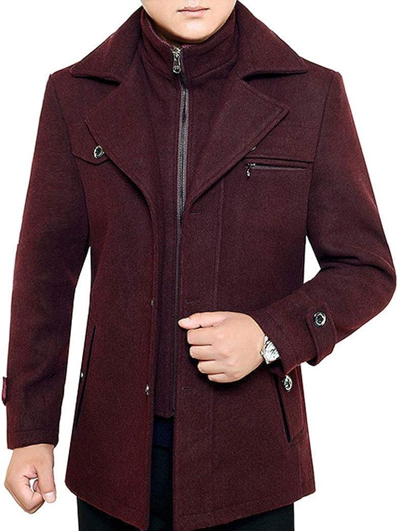 xzbailisha Men's Casual Winter Warm Thicken Double Heavy Parka Jacket Coat