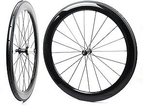 Yuanan 60mm Aero Carbon Wheel Depth Tubular Clincher Tubeless For Racing Road Bike Wheelset Powerway R36 hub