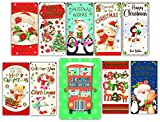 10 Various Christmas Money Wallets and Greetingles Card. Mixed Pack