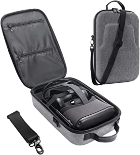 HIJIAO Hard Travel Case for Oculus Quest VR Gaming Headset and Controllers Accessories Waterproof Shockproof Carring case (Gray)