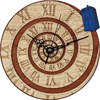 xushihanjjli Wall Clock Home Decor Doctor Who Best 3D Art Wall Clock 12 Inch Wood Art Clock Home Decoration Accessories Modern for Any Room in Home Dining Room Kitchen Office School