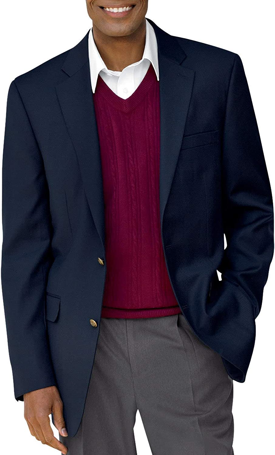 Gold Series by DXL Big and Tall Continuous Comfort Blazer Executive Cut