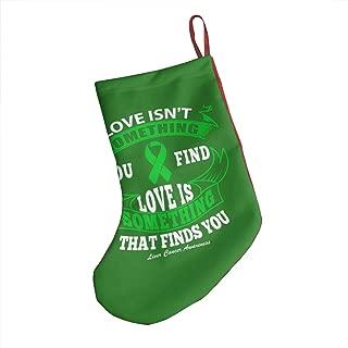 Decopik 18 Inch Christmas Stockings Liver Cancer Awareness Quote