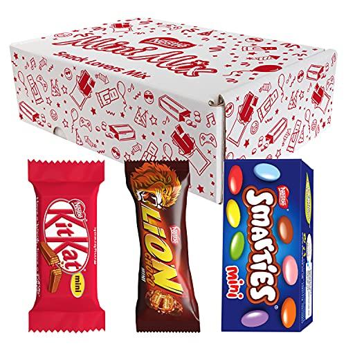NESTLÉ Mini Mix Snack di Cioccolato al Latte KITKAT LION e SMARTIES Confezione Assortita da 63 Mini Snack 1,03kg