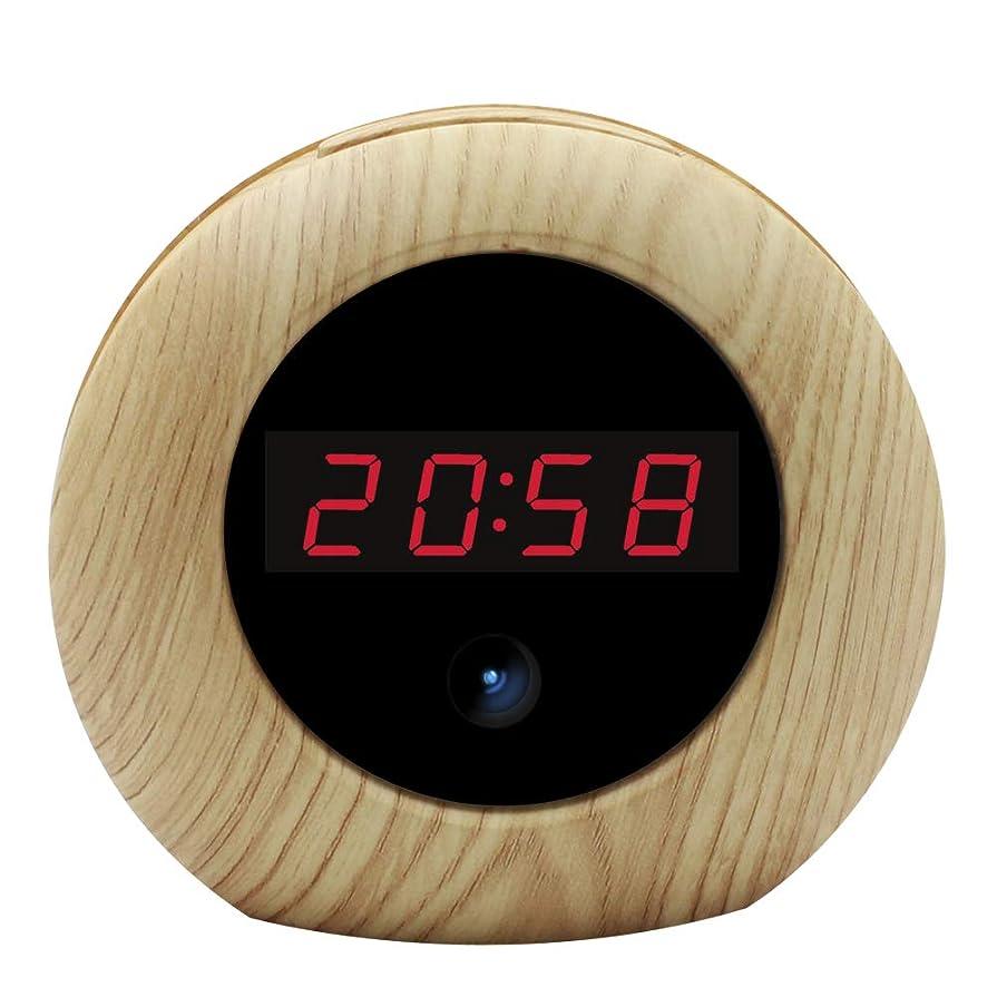 器具戻す合理的目覚し時計型カメラ 小型カメラ 1080P防犯監視カメラ 小型隠しビデオカメラ 長時間録画録音 静止画撮影機能 録画機能 音声付き 動体検知 循環記録 32GまでSDカード対応(SDカード別売り)日本語の説明書付き