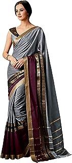 GoSriKi Silk with Blouse Piece Saree