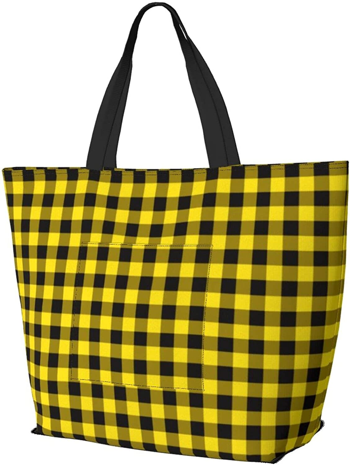 Yellow Inventory cleanup selling sale Max 58% OFF Buffalo Plaid Shoulder Large Bag Multifunctional Capacity