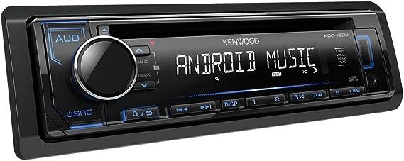 Kenwood Kdc 120ub Cd Receiver Mit Frontseitigem Usb Aux Eingang Schwarz Navigation
