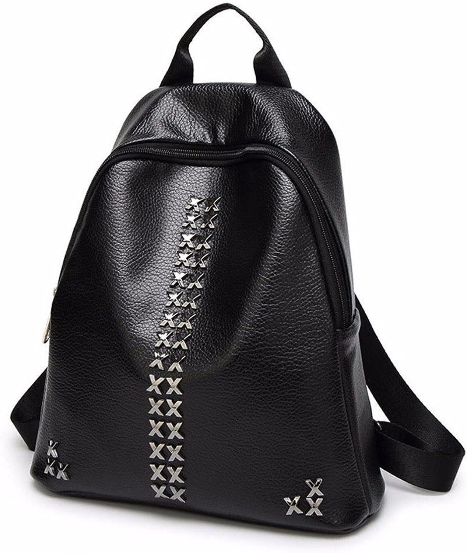 Rivet Shoulder Bag Female Fashion Knapsack Soft Leather Mini Bag