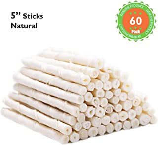 MON2SUN Dog Rawhide Twist Sticks 5 Inch for Puppy and Small Dogs