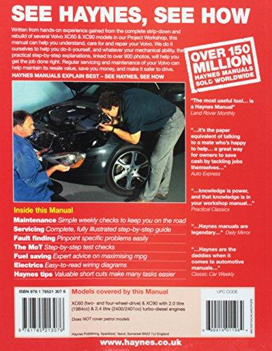 Volvo Diesel XC60 and XC90 Owners Workshop Manual 2003 to June 2013 Models