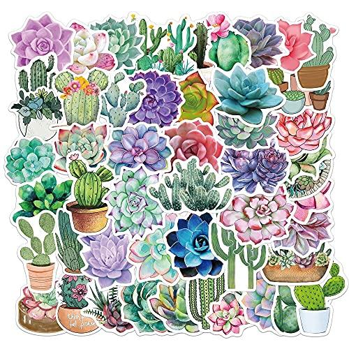 YOUYOU Cute Cactus Juicy Plant Sticker Diario Papel Diy Scrapbook Diario Pegatina Álbum Papelería Maleta Cuaderno 50pcs