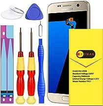 Galaxy S7 Battery, Euhan 3400mAh Li-Polymer Internal Replacement Battery EB-BG930ABE for Samsung Galaxy S7 G920V(Verizon) G930A(at&T) G930T(T-Mobile) G930P(Sprint) with Repair Replacement Tools.