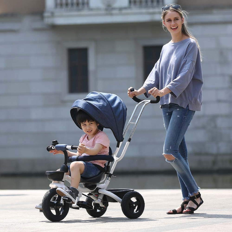 CHEZI trolleyGarçons Filles Enfants 3 Roues   Bike Trike Toddler Tricycles Convient aux Enfants de Plus de 6 Mois