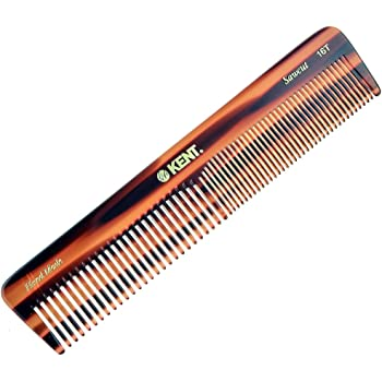Kent 16T Fine Tooth Comb and Wide Tooth Comb Straightener Comb/Beard Comb and Hair Comb/Mens Hair Comb, Mustache Comb, and Comb for Women/Hair Styling and Detangling Comb/Detangler Comb Comb Set