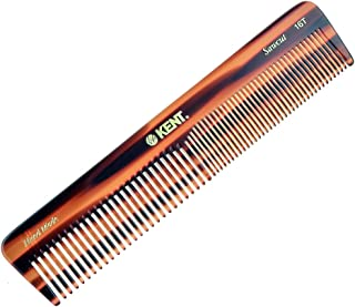 Kent 16T Hand Made Coarse/Fine Toothed Dressing, Grooming, and Styling Comb for Men/Women, 7
