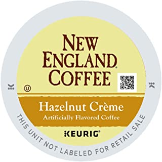 New England Coffee Hazelnut Creme, Single Serve Coffee K Cup Pods, Medium Roast, 12Count (pack of 6)