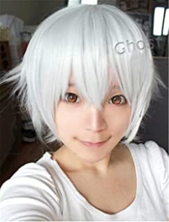 New Anime Short Anti-alice Layered Cosplay Party Costume Heat Resistant Wig (silver white)