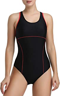 Womens Athletic Racerback One Piece Swimsuits Traning Racing Bathing Suit Sport Swimwear