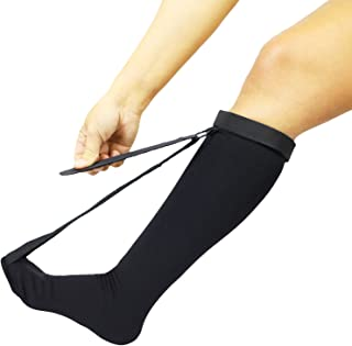 Vive Plantar Fasciitis Stretch Sock - Non Slip Calf Night Relief for Heel,  High Arch Pain - Achilles Tendonitis Therapy Foot Support Sleeve Stretcher - Compression Sleeve - Men,  Women (L/XL)