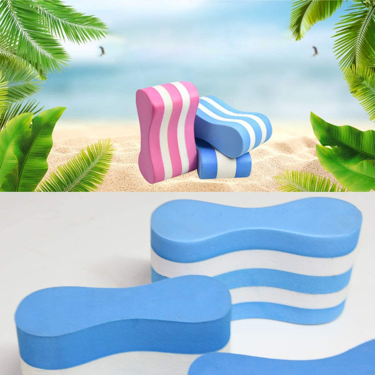 Pink Yagosodee Swim Training Aid Pull Buoy for Upper Body Strength Pool Swimming Aid Float Kickboard for Adults Children