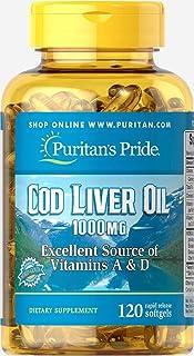 Puritans Pride Cod Liver Oil, 1000 Mg, 120 Count