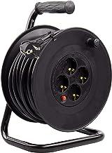 LEDKIA LIGHTING Carrete Alargador de Cable 50m 3x1.5mm Negro