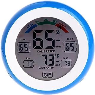 Haia7K4k écran LCD Thermomètre intérieur hygromètre rond humidité Mètre station météo