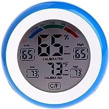 A0127 - Termómetro e higrómetro con pantalla LCD, redondo, para medir la humedad del aire