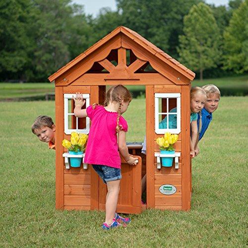 Backyard Discovery Timberlake All Cedar Wood Playhouse