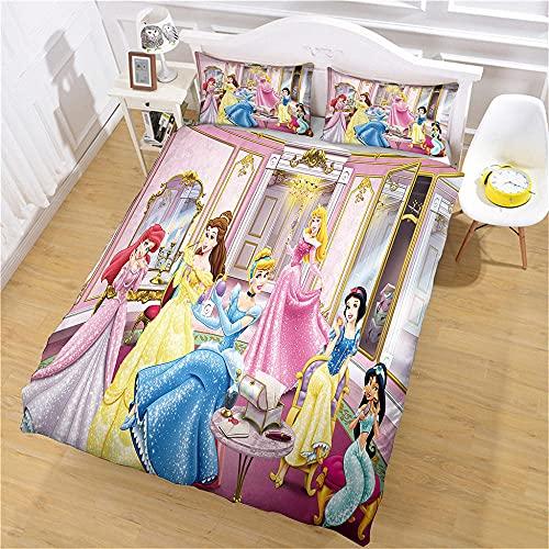 Juego de ropa de cama con personajes anime, 3 piezas, fundas de edredón y 2 fundas de almohada de matrimonio, tamaño superking, microfibra, poliéster, cremallera transpirable, fácil de cuidar