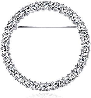 Desconocido Moregirl Cristales Redondos Soporte para Gafas Broche Soporte para Gafas de Lectura Broche de diseño Simple de...