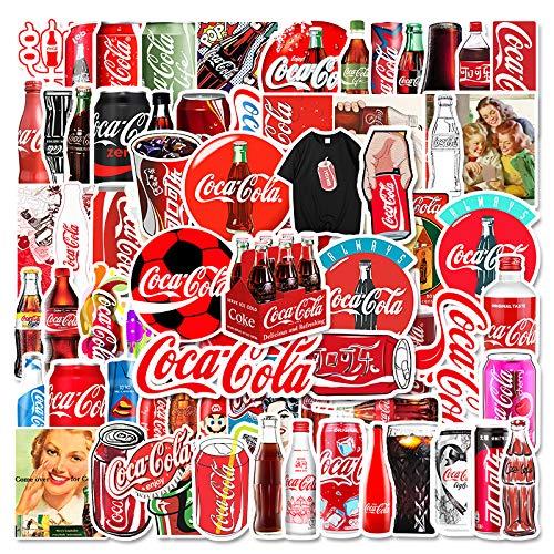 Coke Tide Marca Equipaje Batería Coche Laptop Casco Taza de Agua Refrigerador de Dibujos Animados Pegatinas Impermeables 75 Hojas
