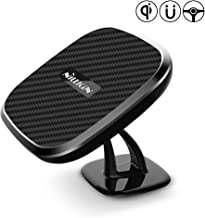 Wireless Car Charger, 10W Fast Dashboard Car Mount Magnetic Phone Holder [ 360 Rotation ] Compatible for iPhone 11/11 Pro/Xs Max/XS/XR/X/8/8 Plus, Samsung Galaxy S10/S9 Plus/S8/Note 10/9 and More