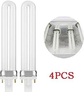 Aiming 4pcs 9W Que Cura la lámpara Ultravioleta del Gel del Clavo del Gel del reemplazo secador del Arte Bombilla Tubo