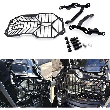 R1200gs Motorrad Seitenmontage Scheinwerfer Grill Headlight Cover Mask Für R 1200 Gs Lc Adv Adventure 2013 2014 2015 2016 2017 2018 Schwarz Auto
