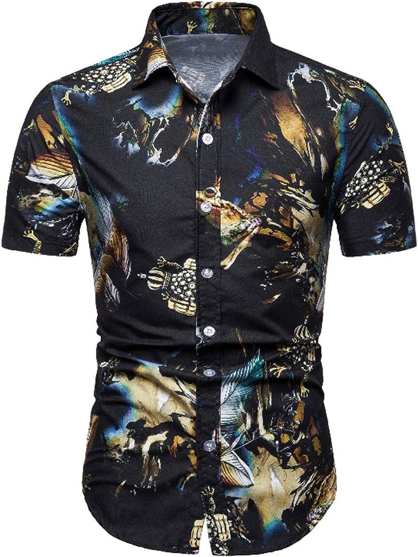 Men's Large Size Shirt Classic Casual Hawaiian Beach Holiday Slim Shirt