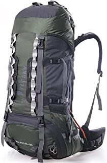 Outdoor Mountaineering Bag Multi-Function Travel Backpack Hiking Camping Backpack Large Capacity Detachable Carrying 75L Annacboy