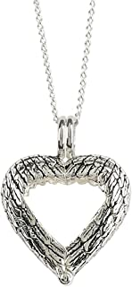 Angel Wings Ring Holder Bereavement Memorial Silver Plated 18 inch Pendant Necklace