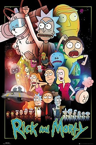 Rick and Morty - TV Show Poster/Print (Character Collage/Wars) (Size: 24 inches x 36 inches)