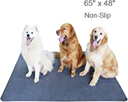 Upgrade Non-Slip Dog Pads Extra Large 65  x 48 , Washable Puppy Pee Pads with Fast Absorbent, Reusable, Waterproof for Training, Travel, Whelping, Housebreaking, Incontinence, for Playpen, Crate
