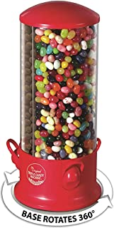Triple Compartment Candy Machine | Cool Countertop or Desk Candy Dispenser for Kids and Adults | Offer 3 Different Candy Snacks | Unique 360 Degree Spin | Classic Red
