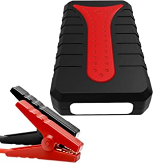 LNLJ Bewegliche Auto-Jump Starter 1200A Peak 22000Mah Energien-Bank Mit 2 USB-Anschluss Aufladen Mit Taschenlampe Und Kompass 2 in 1 Luftpumpe Smart Jumper Clip