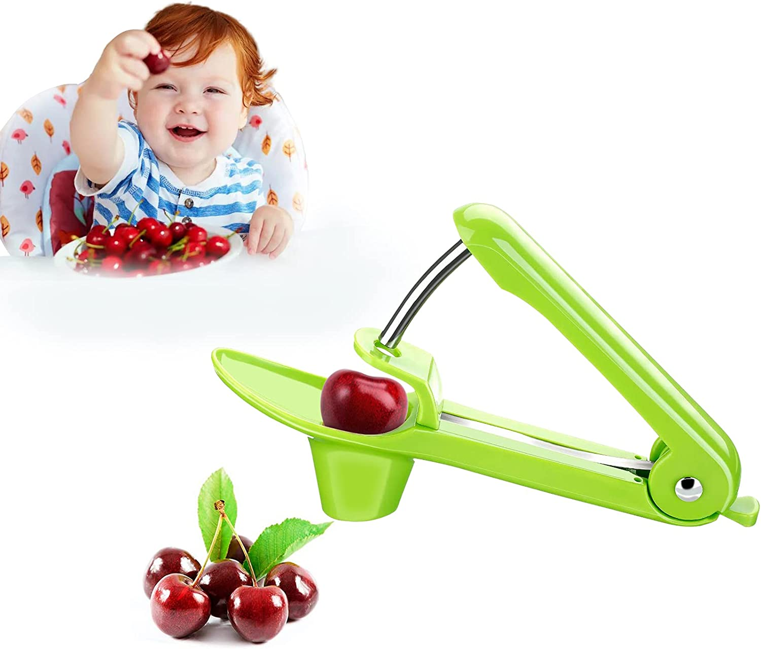 Cherry Pitter,Olive Pitter Tool with Food-Grade Silicone Cup Loc